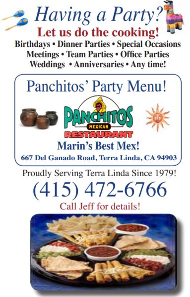 Panchitos Mexican Restaurant Catering Menu for Parties and Events