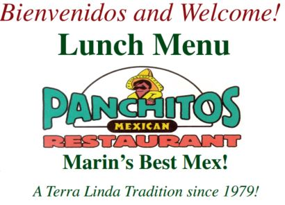 Panchitos Mexican Restaurant Lunch Menu